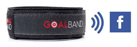 wristband stores your weight loss goals and connects you through to facebook group