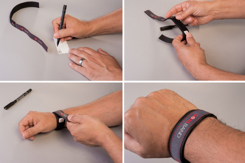 Completing your goal commitment card for your goalband weight loss wristband is easy